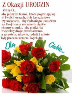 Życzenia Happy Birthday Greeting Card, Motto, Google, Empire, Fotografia, Christmas, Pictures, Mottos