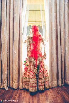 Looking for heavy red bridal lehenga? Browse of latest bridal photos, lehenga & jewelry designs, decor ideas, etc. on WedMeGood Gallery. Big Fat Indian Wedding, Indian Wedding Outfits, Bridal Outfits, Wedding Attire, Indian Outfits, Bridal Dresses, Indian Clothes, Indian Weddings, Desi Clothes