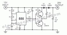 This dc voltage doubler circuit produces a voltage that is twice its voltage supply. This is useful when a higher voltage level is needed out of a single Simple Circuit, Dc Circuit, Circuit Diagram, Hobby Electronics, Electronics Projects, Metal Detector, Circuit Components, Power Supply Circuit, Ham Radio