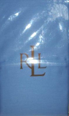 2 Ralph Lauren Dunham 300 Thread Count Sateen Standard Pillow Cases Blue NIP 10% OFF SALE!!