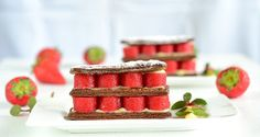Caramelized Chocolate Mille-Feuille with Strawberr...