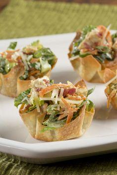 Caesar Salad Cups | EverydayDiabeticRecipes.com