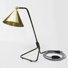 Tone Lamp  Brass  Desk Lamp   Patina Metal & Brass by TOMASATELIER