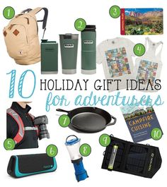 Shop for the special outdoor lover in your life with these 10 holiday gift ideas for adventurers. Camping Gifts, Camping And Hiking, Camping Lunches, Backpacking Meals, Holiday Gift Guide, Holiday Gifts, Christmas Gifts, Camping With Teens, Adventure Gifts
