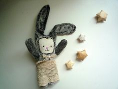 Poline    Little  Bunny with hand embroidered by wassupbrothers, $90.00