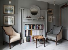London bedroom sitting area in the re-created Victorian flat of designer Patrick Williams of Berdoulat | Remodelista
