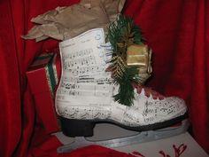 sheet music covered skate idea