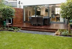 Decking with planting