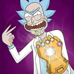 《Rick and Morty / Rick Sanchez with Infinity Gauntlet》 Cartoon Shows, Cartoon Art, Rick And Morty Poster, Animation, Fan Art, Dope Art, G Dragon, Geek Culture, Manga