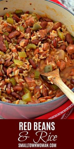 Low Unwanted Fat Cooking For Weightloss Red Beans Creole Cuisine Cajun Cuisine Louisiana Red Beans And Rice New Orleans Style Red Beans And Rice Small Town Woman Cajun Recipes, Bean Recipes, Soup Recipes, Vegetarian Recipes, Dinner Recipes, Cooking Recipes, Healthy Recipes, Haitian Recipes, Louisiana Recipes