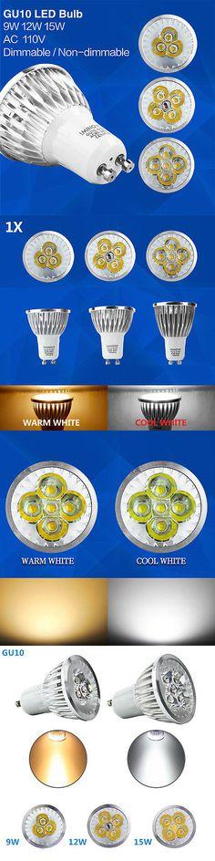 Light Bulbs 20706: Gu10 Led Bulb Dimmable Spotlight Ac 110V Replace Lighting Lamp 9W 12W 15W -> BUY IT NOW ONLY: $31.97 on eBay!