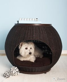 End table for you. Bed for your dog. The Igloo Dog Bed gives your dog a hide-a-way that you are happy to display within your home.  http://www.therefinedcanine.com/Igloo-dog-bed.html