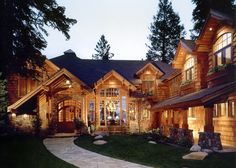 I really like the layout of this.  We saw floor plans for a log home with a similar layout years ago...