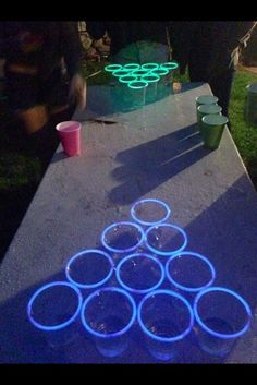 Backyard Sweet 16 Party Ideas backyard ice cream party summer fun the inspired room Tron Pong Sweet 16 Partiessweet