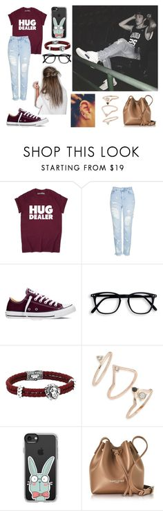 """Aaron Carpenter"" by sorrynoturbabe ❤ liked on Polyvore featuring Topshop, Converse, Casetify and Lancaster"