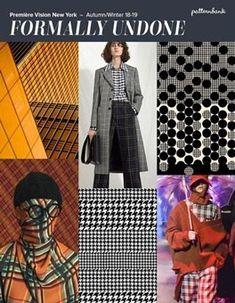 Première Vision New York - Outono / Inverno Print & Pattern Trend Round Up Fashion 101, Latest Fashion Trends, Autumn Fashion, Winter Trends, Première Vision, Aw18 Trends, Color Trends 2018, Fashion Forecasting, Pattern Bank