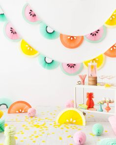 Fruit Wedge Bunting