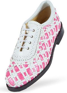 Shoes for my new pink golf outfit!  These are fabulous and I want them!!!!AEROGREEN Padova Ladies Golf Shoes - Pink/Pearl-White