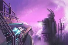 25 Unseen, Wallpaper-Friendly Pieces of Wipeout Concept Art – PlayStation.Blog