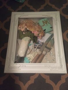 My wedding shadow box! Purchased from hobby lobby.