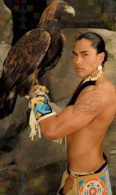 Native American Model Martin Sensmeier.