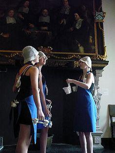 performance 'Holland Mania' at museum de Lakenhal, Leiden