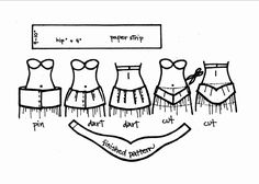 Sewing Pattern Tutorial: How to fit a hip-hugging belt (as for belly dancing), by Dina Lydia at http://www.shira.net.