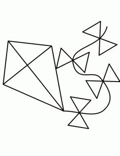 coloring page kite coloring pages pinterest kites craft and
