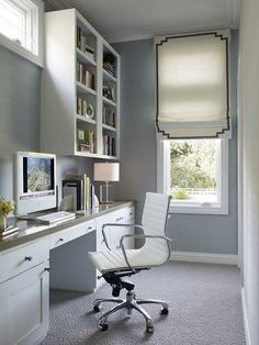 I like this simple and neat office space for myself. This site has a collection of modern interior designs.