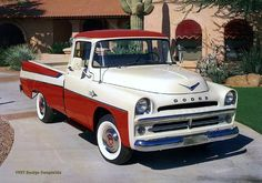 1957 Dodge Sweptside Pickup  via 1950sbeautifulyears