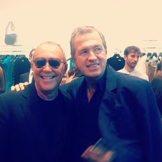 Legendary photographer and friend, Mario Testino, stops by my new shop in Madrid. #MKMadrid
