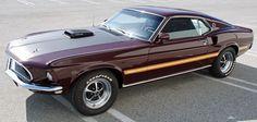 Royal Maroon 1969 Mustang Mach 1