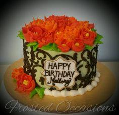Fall Buttercream Birthday Cake