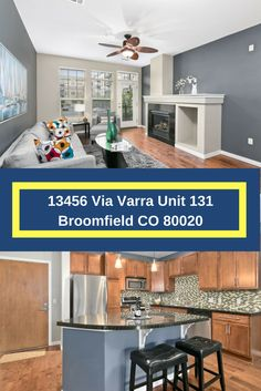 Condo with open floor plan and a fantastic gourmet kitchen.