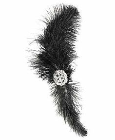 Ostrich Feather Forever21 hair clip