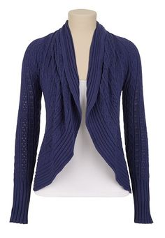 Long Sleeve Pointelle Cardiwrap available at #Maurices