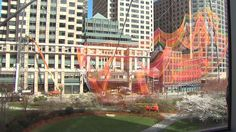 Colorful Sculpture Hoisted Above Rose Kennedy Greenway « CBS Boston