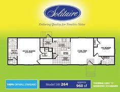 Single Wide Floorplans   Manufactured Home Floor Plans   Mobile Homes