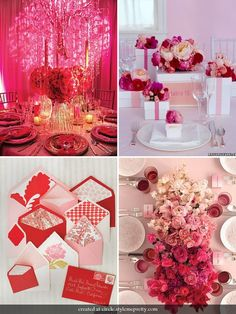 Pink And Red #wedding, #weddings, #pinsland, https://apps.facebook.com/yangutu  Love the idea of it looking like its faded from red to pink to white!