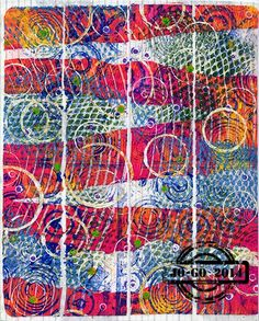 mixed media fun: Gelli printed packing tape. Here's a link to a video: https://www.youtube.com/watch?v=ZNNboYneDAc