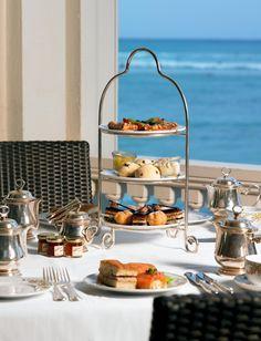 "Hawaii Beach Restaurants | Moana Surfrider, A Westin Resort & Spa - The Veranda | Waikiki Beach Restaurants. One of my favorite ""teas"" with a view!"