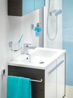Wastafel onderkast is slechts 40cm diep. Ideaal voor de kleinere badkamer
