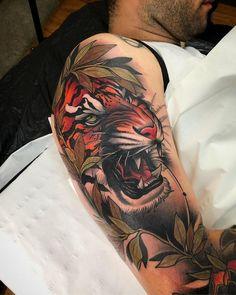 Neo Tattoo, Backpiece Tattoo, Samoan Tattoo, Polynesian Tattoos, Tattoo Ink, Japanese Tiger Tattoo, Japanese Sleeve Tattoos, Traditional Panther Tattoo, Neo Traditional Tattoo