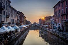 Sunset over Naviglio Grande #Milan #Navigli #Italy