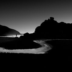 lone man, oregon coast, cole thompson, b&w, black and white, fine art photography, b&w photograph, b&w fine art photography