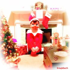 World's only known LIFE SIZE Elf on The Shelf!  Read more at Facebook.com/kringleknoth