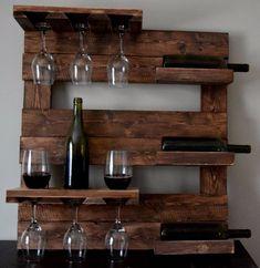 Palette Wood Wine Rack - All