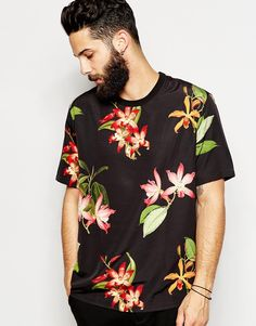 ASOS Woven T-Shirt With Floral Print