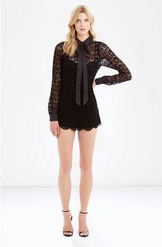 PARKER- Josephine Romper Long Ties, Lace Romper, Scalloped Hem, Ballet Skirt, Rompers, Skirts, Sleeves, Model, Dresses