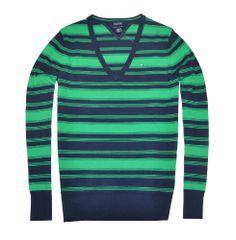 Tommy Hilfiger Women V-neck Striped Pima Cotton Pullover Sweater (XXL, Green/navy) Tommy Hilfiger,http://www.amazon.com/dp/B00D48M5F8/ref=cm_sw_r_pi_dp_ZR5ctb18M852SMX6